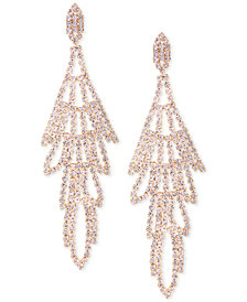 GUESS Rose Gold-Tone Crystal Chandelier Earrings