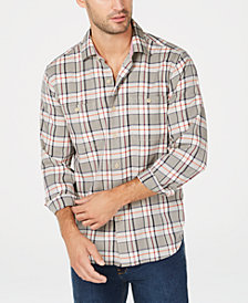 Tommy Bahama Men's Harbor Herringbone Yarn-Dyed Plaid Shirt