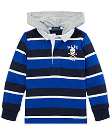 Polo Ralph Lauren Big Boys Striped Hooded Cotton Rugby Shirt