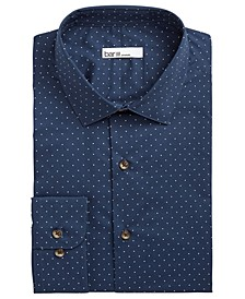 Men's Slim-Fit Stretch Polka Dot Dress Shirt, Created for Macy's