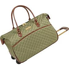 "Anne Klein Bellevue 20"" Carry-On Wheeled Duffel Bag"