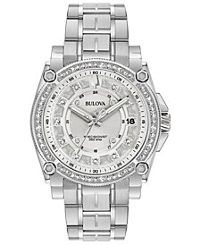 Bulova Women's Precisionist Diamond (7/8 ct. t.w.) Stainless Steel Bracelet Watch 40mm