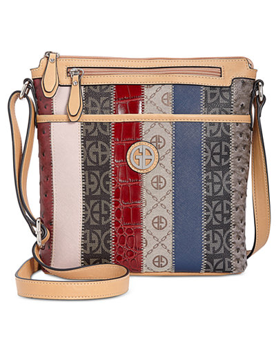 Giani Bernini Patchwork Stripe Crossbody, Created for Macy's