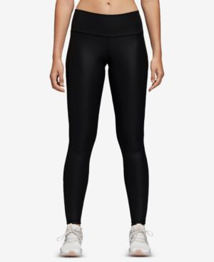 Adidas Believe This Liquid Shine High-Rise Ankle Leggings in Black