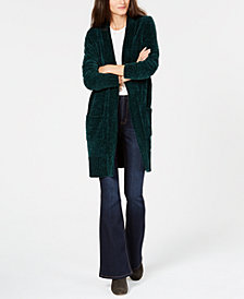 MICHAEL Michael Kors Velour Long Cardigan