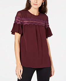 MICHAEL Michael Kors Lace-Trim Blouse