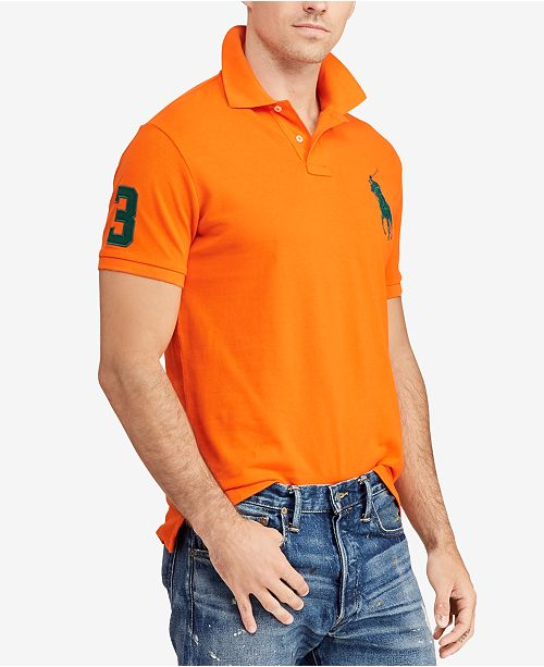 b602cd3c ... Polo Ralph Lauren Men's Big Pony Custom Slim Fit Mesh Polo, Created for  Macy's ...
