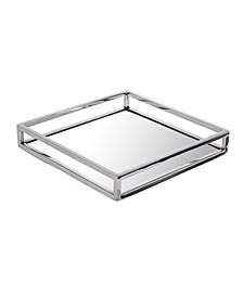 Mirrored Napkin Holder with Chrome Rails