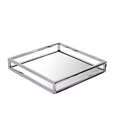 Classic Touch Mirrored Napkin Holder with Chrome Rails