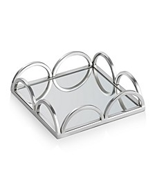 "8"" Mirrored Napkin Holder With Side Bars"