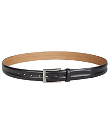 Tasso Elba Men's Leather Dress Belt, Created for Macy's