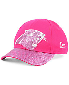 New Era Girls' Carolina Panthers Shimmer Shine Adjustable Cap