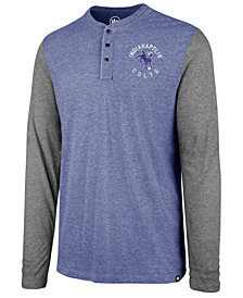 '47 Brand Men's Indianapolis Colts Retro Match Long Sleeve Henley T-Shirt