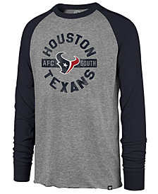 '47 Brand Men's Houston Texans Retro Encircled Long Sleeve Club Raglan T-Shirt