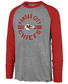'47 Brand Men's Kansas City Chiefs Retro Encircled Long Sleeve Club Raglan T-Shirt