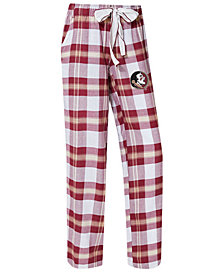 Concepts Sport Women's Florida State Seminoles Homestretch Flannel Pajama Pants