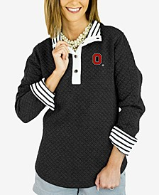 Women's Ohio State Buckeyes Snap Quilted Pullover