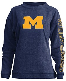 Pressbox Women's Michigan Wolverines Comfy Terry Sweatshirt