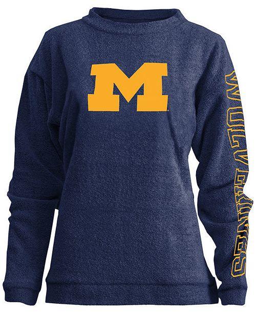Pressbox Women's Michigan Wolverines Comfy Terry Sweatshirt