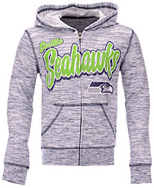 5th & Ocean Seattle Seahawks Space Dye Hoodie, Girls (4-16)