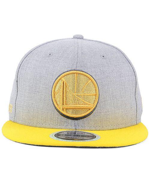 buy popular 22b95 946ba ... promo code for new era. golden state warriors heather metallic 9fifty  snapback cap. be