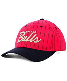 Mitchell & Ness Chicago Bulls Pinstripe Snapback Cap