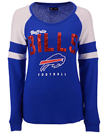 5th & Ocean Women's Buffalo Bills Colorblock Long Sleeve T-Shirt