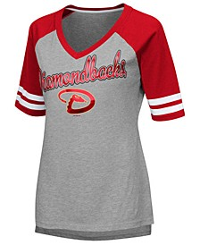 Women's Arizona Diamondbacks Goal Line Raglan T-Shirt