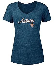 5th & Ocean Women's Houston Astros Tri-Blend V-Neck T-Shirt