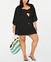5e7fbd5f27 Dotti Plus Size Santorini Kimono Cover-Up