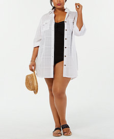 Dotti Plus Size Shirtdress Cover-Up