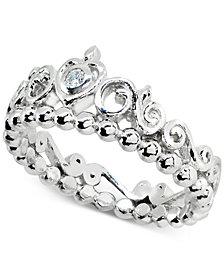 Giani Bernini Cubic Zironia Tiara Ring in Sterling Silver, Created for Macy's