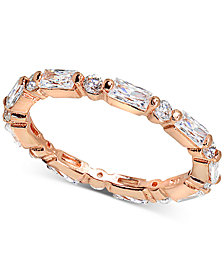 Giani Bernini Cubic Zironia Baguette Band in 18k Rose Gold-Plated Sterling Silver, Created for Macy's