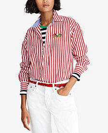 Polo Ralph Lauren Striped Cotton Boyfriend Shirt