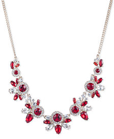 "Givenchy Crystal Statement Necklace, 16"" + 3"" extender"