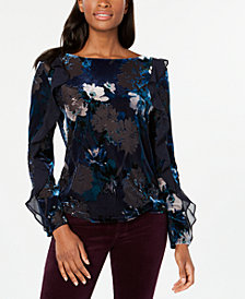 Tommy Hilfiger Burnout Velvet Top, Created for Macy's