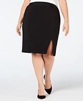 bb1ffdd945b Nine West Plus Size Belted-Detail Pencil Skirt