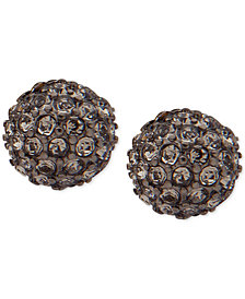 Lauren Ralph Lauren Hematite-Tone Crystal Fireball Stud Earrings