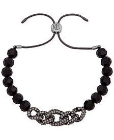 Lauren Ralph Lauren Beaded Crystal Link Slider Bracelet