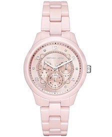 Women's Runway Pink Ceramic Bracelet Watch 38mm