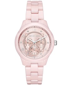 Michael Kors Women's Runway Pink Ceramic Bracelet Watch 38mm