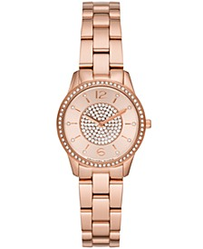 Women's Runway Rose Gold-Tone Stainless Steel Bracelet Watch 28mm