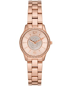 Michael Kors Women's Runway Rose Gold-Tone Stainless Steel Bracelet Watch 28mm