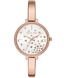 Michael Kors Women's Jaryn Rose Gold-Tone Stainless Steel Bangle Bracelet Watch 36mm