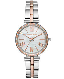 Michael Kors Women's Maci Two-Tone Stainless Steel Bracelet Watch 34mm
