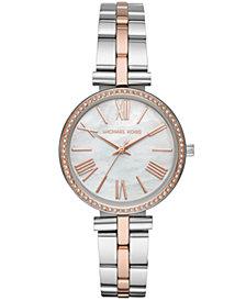 Michael Kors Women's Maci Two-Tone Stainless Steel Bracelet Watch 34mm