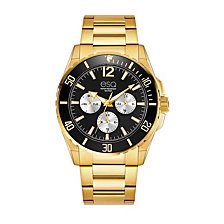 Men's ESQ0243 Gold-Tone Multi-Function Stainless Steel Bracelet Watch
