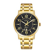 Men's ESQ0252 Gold-Tone IP Stainless Steel Bracelet Watch with Black Dial