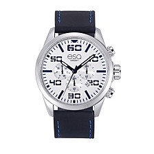 Men's Multi-Function Stainless Steel Watch, White Dial