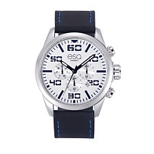 Men's ESQ0020 Multi-Function Stainless Steel Watch, White Dial